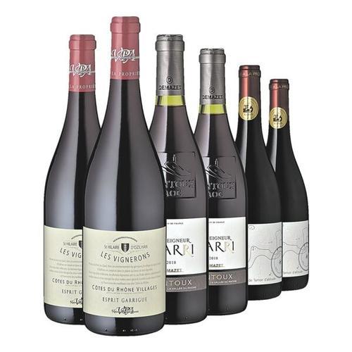 6tlg. Wein-Set »Frankreichs Rotweinperlen«, Rindchen's Weinkontor