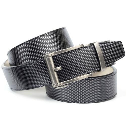 Anthoni Crown Ledergürtel, Automatikgürtel in anthrazit grau Damen Ledergürtel Gürtel Accessoires