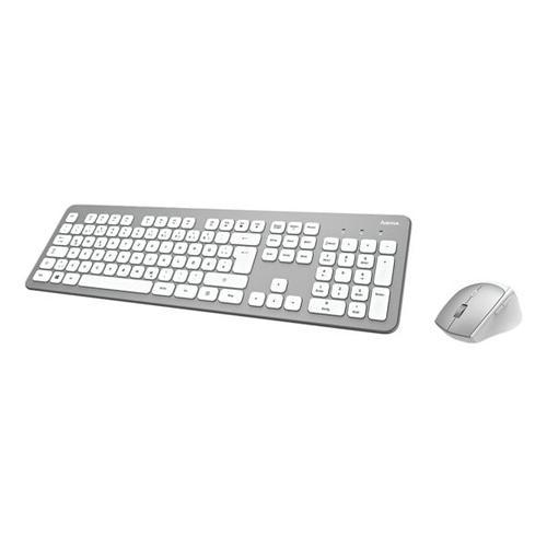 Kabelloses Desktop-Set »KMW-700« silberfarben/weiß silber, Hama