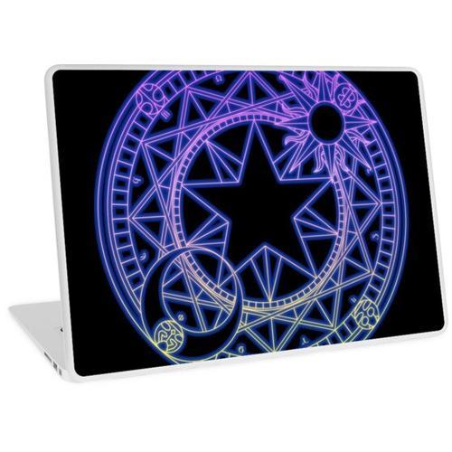 Neon Clow-Symbol Laptop Skin