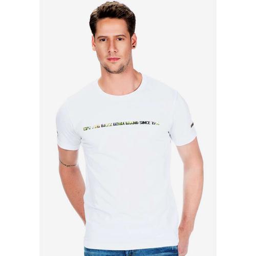 Cipo & Baxx T-Shirt, mit Logo Hologramm Aufdruck weiß Herren Shirts T-Shirt