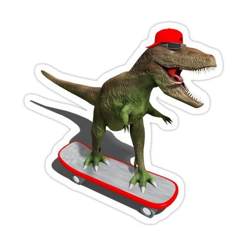 Skateboard T-Rex Sticker