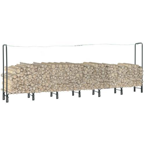 vidaXL Brennholzregal Anthrazit 360×35×120 cm Stahl