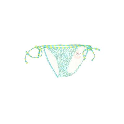 SO Swimsuit Bottoms: Blue Floral Swimwear - Size X-Small