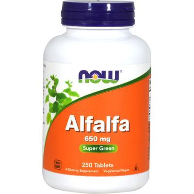 NOW Foods Alfalfa 650mg Tablets-250 Tablets