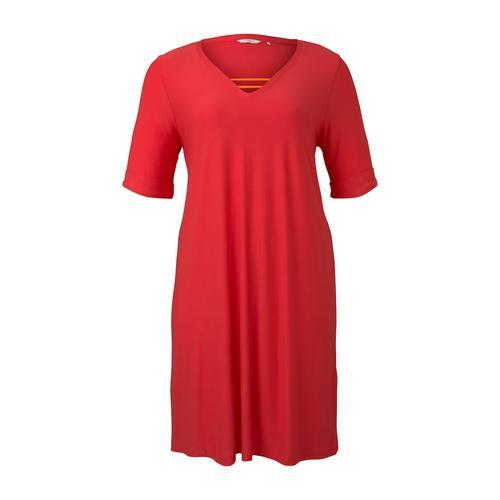 TOM TAILOR MY TRUE ME Damen Schlichtes Basic Kleid, rosa, Gr.54
