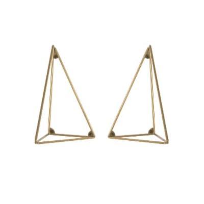 Maze Interior - Ecofriendly brass coated metal wire console shelf brackets - brass | metal | eco friendly - Brass