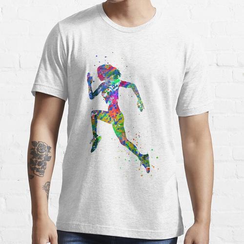 Laufende Frau, Jogger, Sport joggen Essential T-Shirt