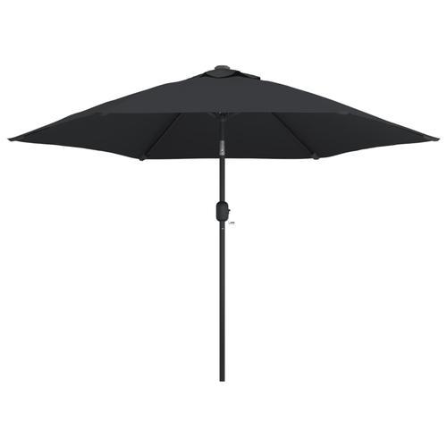 vidaXL Sonnenschirm mit Metall-Mast 300 cm Schwarz