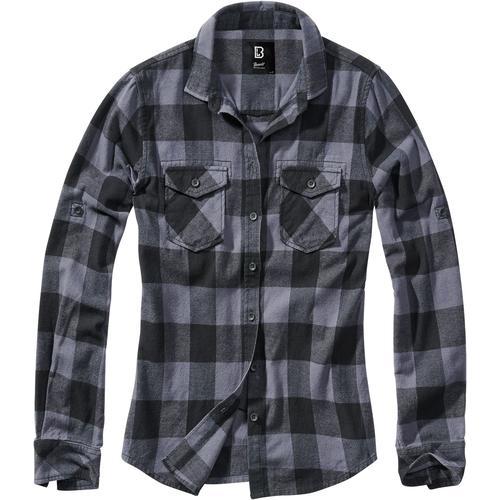 Brandit Amy Flanell Checkshirt Damen-Flanellhemd - schwarz grau