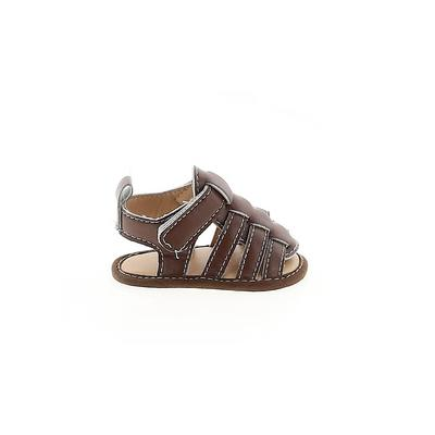 So 'dorable Sandals: Brown Solid Shoes - Size 1