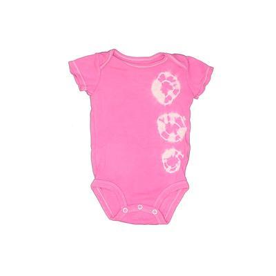 Carter's Short Sleeve Onesie: Pink Print Bottoms – Size 6 Month