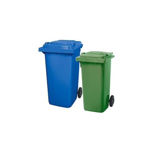 BRB Set mit 1x DIN Mülltonne 120 Liter grün und 1x DIN Mülltonne 240 Liter blau
