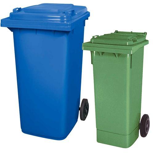 BRB Set mit 1x DIN Mülltonne 80 Liter grün und 1x DIN Mülltonne 240 Liter blau