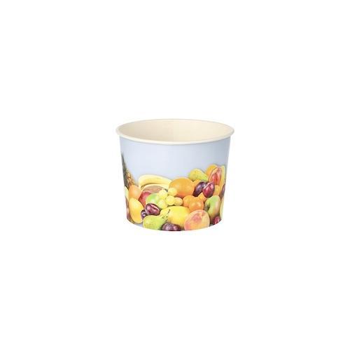 Papstar 500 Eisbecher, Pappe rund 500 ml Ø 11 cm · 8,3 cm Früchte