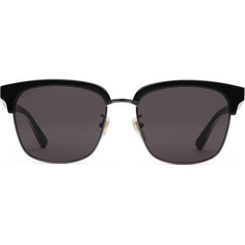 Gucci Sonnenbrille mit rechteckigem Rahmen aus Metall