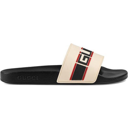 Gucci Pantolette aus Kautschuk mit Streifen
