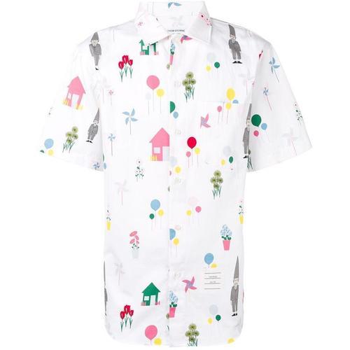 Thom Browne Hemd mit Gartenzwerg-Print
