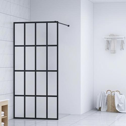 vidaXL Duschwand für Begehbare Dusche Hartglas 90×195 cm