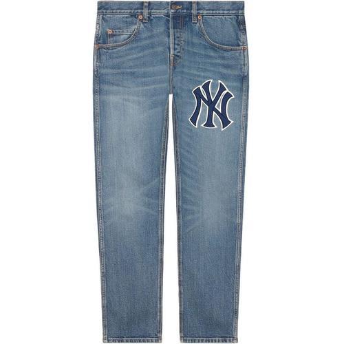 Gucci Hose aus Denim mit NY YankeesTM-Patch