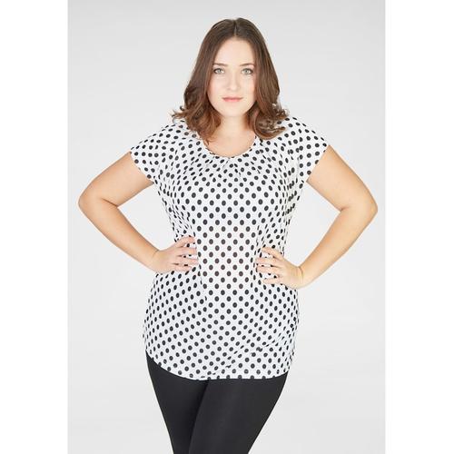 Feminines Shirt mit Polka Dots Navigazione Piu weiSS