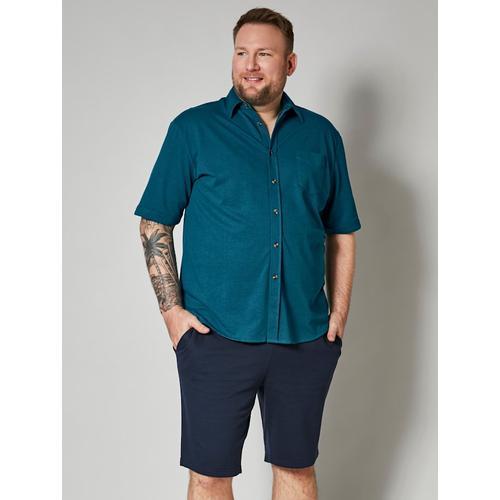 Spezialschnitt Hemd Men Plus petrol