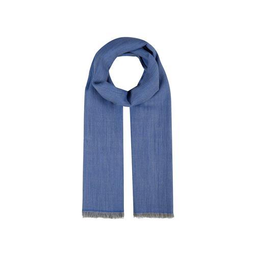 Fischgrät-Schal aus feinster Wolle Codello jeans blue