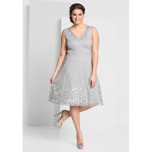 Kleid Sheego lichtgrau