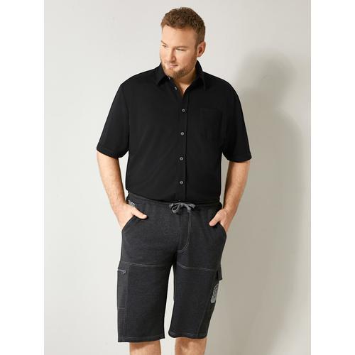 Spezialschnitt Hemd Men Plus Schwarz
