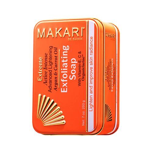Makari Seife zur Hautaufhellung - 200g Seife - Mit Karotte & Arganöl