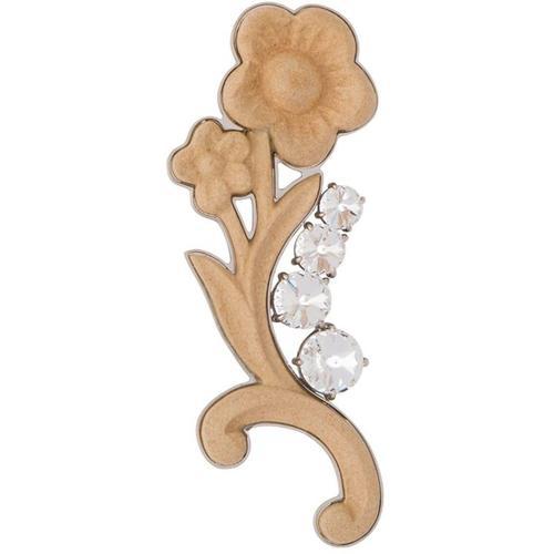 Miu Miu Brosche mit Kristallen