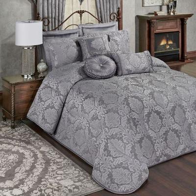 Camelot Grande Bedspread Gray, California King, Gray