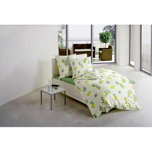 BIERBAUM Bettwäsche Zitrone, mit leuchtenden Zitronen gelb Bettwäsche-Sets Bettwäsche, Bettlaken und Betttücher