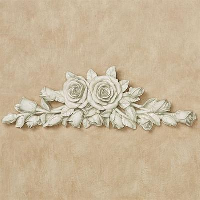 Rose Melody Wall Topper Antique White , Antique White