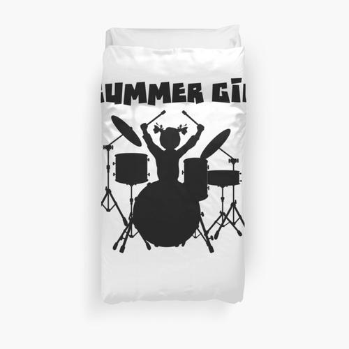 Girl Drummer Shirt - Girl Drummer Gifts - Drummer Girl Shirt Duvet Cover
