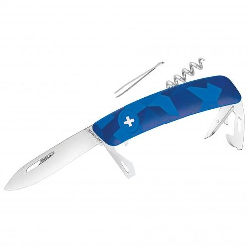 Swiza - Schweizer Messer C03 - Messer Gr 7,5 cm blau