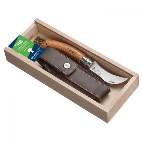 Opinel - Opinel Pilzmesser-Geschenkset inkl. Etui - Messer Gr 7 cm eichenholz