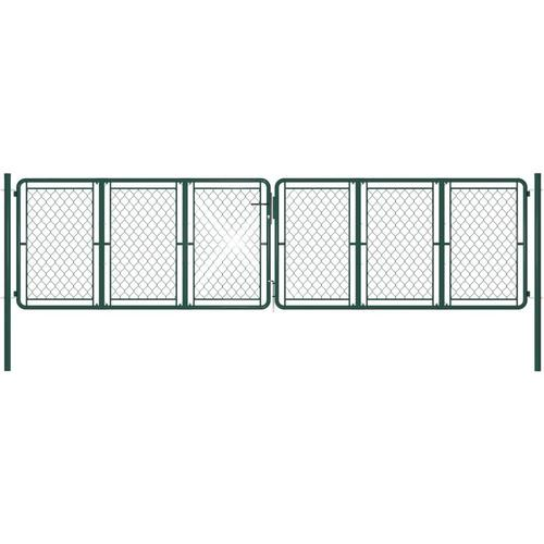 Gartentor Stahl 400 x 100 cm Grün