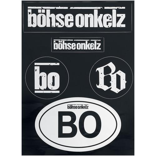 Böhse Onkelz Aufkleber-Set Aufkleber-Set - schwarz weiß - Offizielles Merchandise