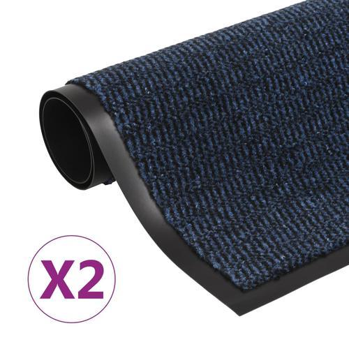 vidaXL Schmutzfangmatten 2 Stk. Rechteckig Getuftet 90x150cm Blau