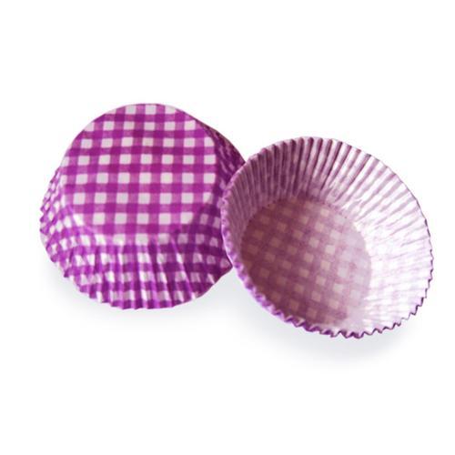 2000x Muffinkapseln Gebäckkapseln KARO violett O 50 x 30 mm