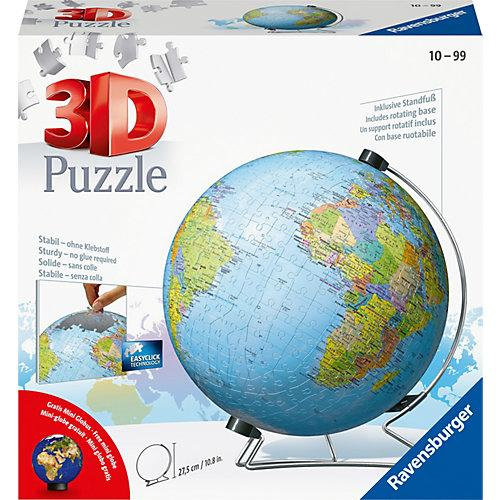 3D-Puzzle Globus Ø22cm, 540 Teile, inkl. Mini-Puzzle-Ball