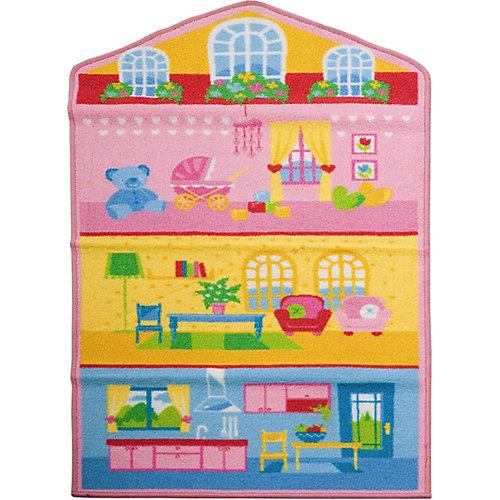 Kinderteppich Puppenhaus, 80 x 140 cm mehrfarbig