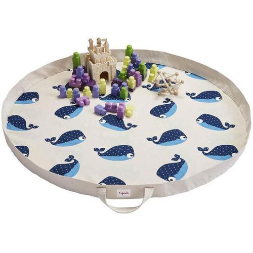Spielzeugmatte/-sack Wal, 110 cm blau