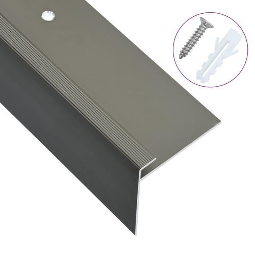 vidaXL Treppenkanten in F-Form 15 Stk. Aluminium 134 cm Braun