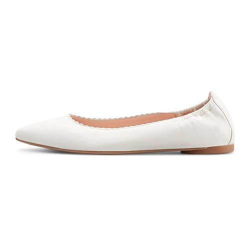 Unisa, Leder-Ballerina Aspas in weiß, Ballerinas für Damen Gr. 41