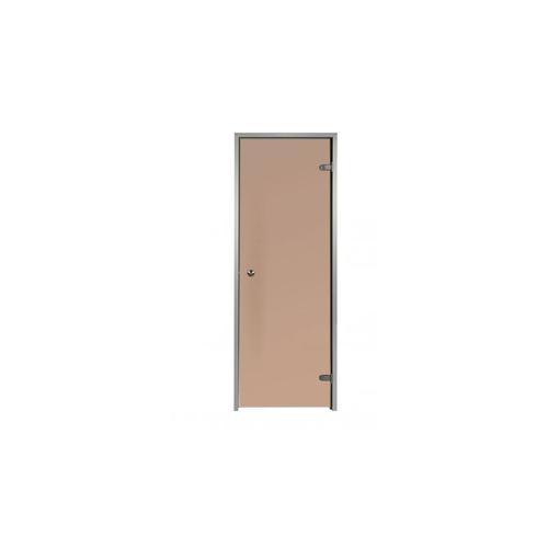 Tür für Hammam Bronze 70 x 190 cm aus vorgespannte Glas Aluminiumrahmen 1
