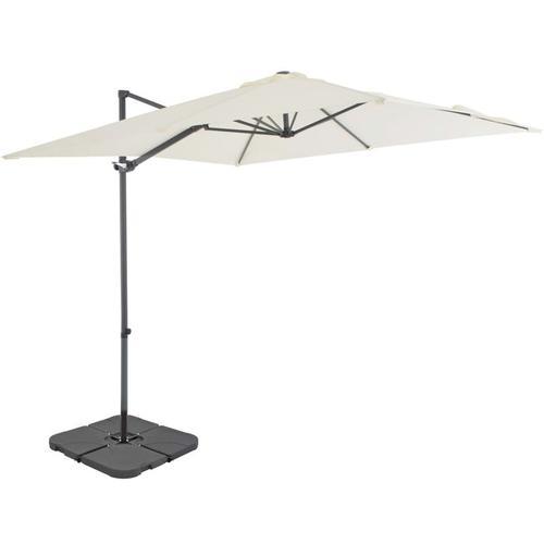 Sonnenschirm mit Schirmständer Sand