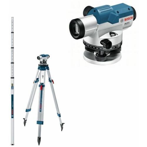 Bosch - Optisches Nivelliergerät GOL 26 G mit Stativ BT160& Messlatte GR 500