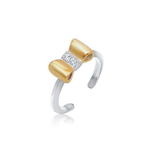Elli Ring Kinder Schleife Kristalle 925 Silber Ringe silber Mädchen Kinder